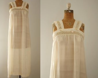 1920s nightgown | vintage 20s silk lingerie