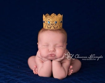 Little Prince Gender Reveal Crown Maternity Photo Prop Newbirn Boy Crown Newborn Boy a Photo Prop