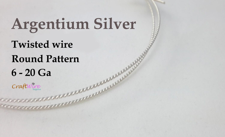 Argentium Silver Round Twisted Wire Round Pattern Dead Soft