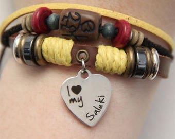 Saluki Bracelet - Saluki Jewelry - Saluki Gift