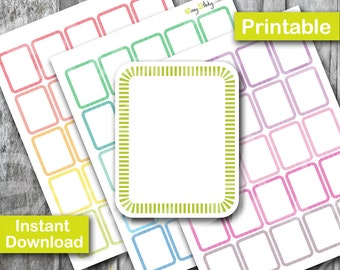 Full box Planner , Printable Planner, Printable Sticker, Erin Condren Planner Sticker
