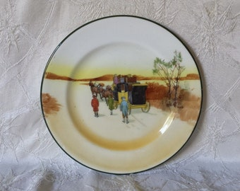 "Vintage Royal Doulton Coaching Days 7"" Dessert or Pie Plate"