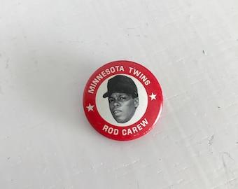 Vintage 1969 Minnesota Twins Rod Carew Red Pin Back Pin, Major League Baseball MLB, Baseball Collectables