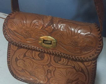 1960's Mexican tooled leather purse-