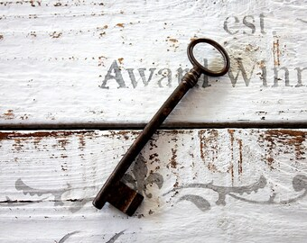 Antique Key, Vintage Key, Skeleton Key, Key Collectible, Iron Vintage Key, Large Key, Old Key, Rustic Decor, Rustic Key, Home Decor, Decor