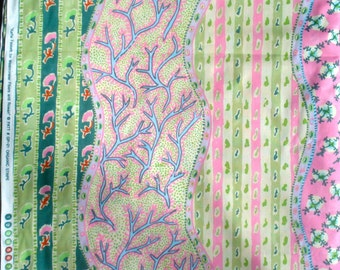 Kaffe Fassett Organic Stripe green Rowan Fabrics GP-21 FQ or more Very Early Retired