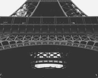 Eiffel Tower Paris France Minimalist Art Print Wall Decor Image - Unframed Poster