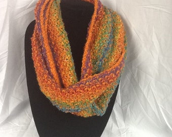 Hand Knit Infinity Scarf #4