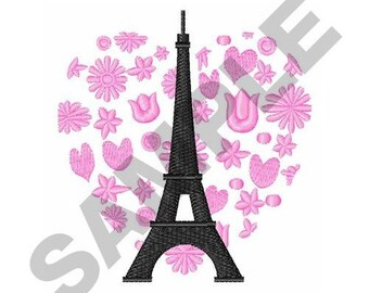 Paris Love - Machine Embroidery Design