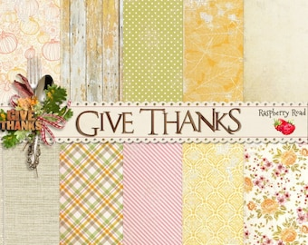 Give Thanks Paper Set