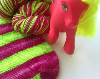 Hand dyed self striping merino sock yarn - Shady