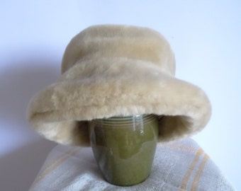 Women's Hats Winter Hats  Artificial Leather Beige Colors Warm Winter Hat Vintage Hat