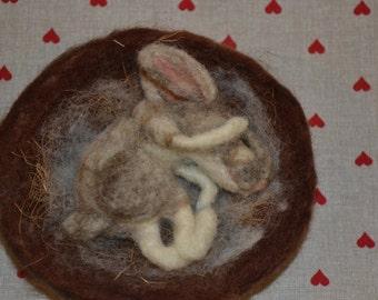 Needle Felted Rabbit  :-)