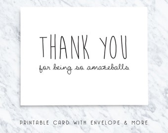 thank you card, thank you note, printable thank you card, thanks card, digital thank you card, download thank you card