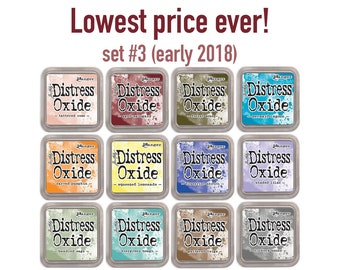 ON SALE! Distress Oxide ink pads by Tim Holtz, set #3 (early 2018), all 12 colors,  - IP070
