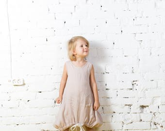 Baby girl clothes, girl dress, linen dress baby girl, girls linen tunic, girls outfits,girl linen dress,loose linen tunic,linen tunic/LD0019