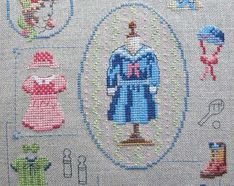 Embroidery on the theme of 1920's girls fashion