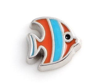 Fish Floating Charms for Living Lockets, Glass Memory Lockets