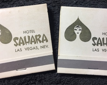 1960s-Sahara Hotel Matches - Set of 2