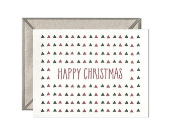 Happy Christmas letterpress card