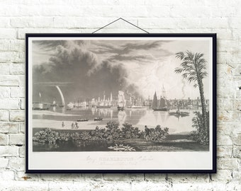 Charleston South Carolina 1838 Fine Art Print