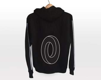 Impossible Loop | Geometry | black with hood - light reflective silver print | Optical Illusion