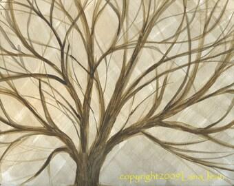 Winter TreeTop 8x10 original art work