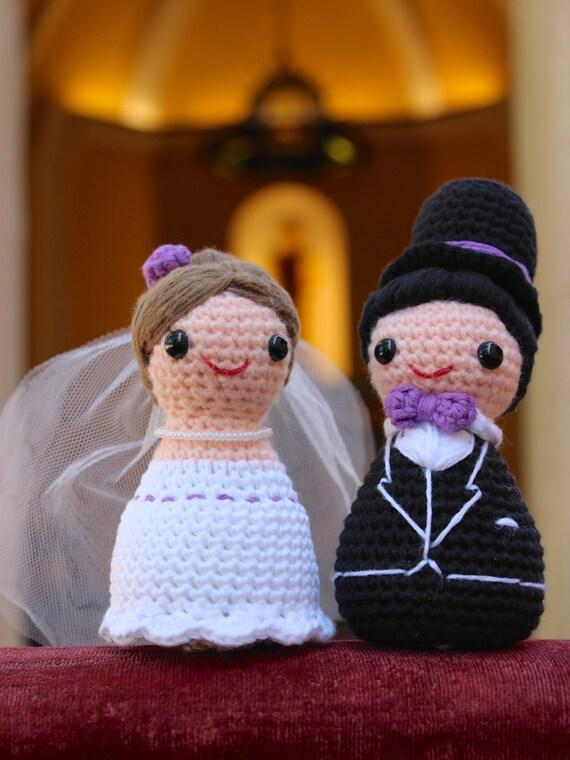 Amigurumi novia y novio patrón ganchillo.