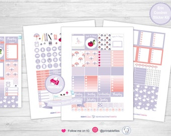 Back to school planner kit planner sticker kit weekly kit erin condren planner stickers planner printable stickers planner sticker kit