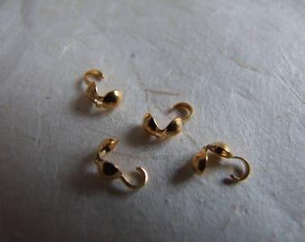 Cache-noeuds dorés 5 mm - lot de 4
