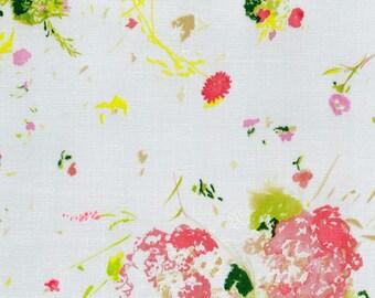Nani IRO 2018 - Encounter B - Double Gauze Fabric - Japanese Fabric - Kokka Double Gauze - Pink Floral in White