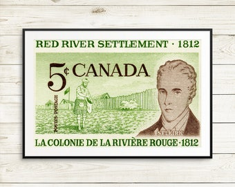 P067 Selkirk, Red River Settlement, Red River Colony, Canadian History, Canda History, History Classroom, History poster, Canada Education