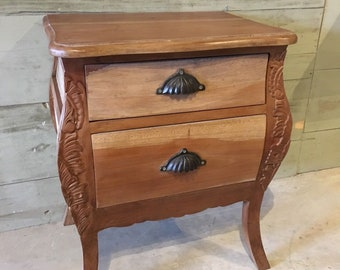 Large Wooden Bedside Cabinet two Drawer, Bedroom Decor