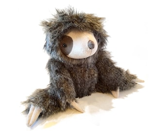 Sloth Toy Sewing Pattern | Stuffed Animal Pattern | Two-toed sloth PDF instant download | Three-toed sloth | Tutorial | How to make a sloth