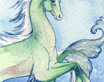 Hippocampus ACEO Giclee Print