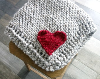 Baby Blanket with Heart/ Marble Grey /The Mini Abra