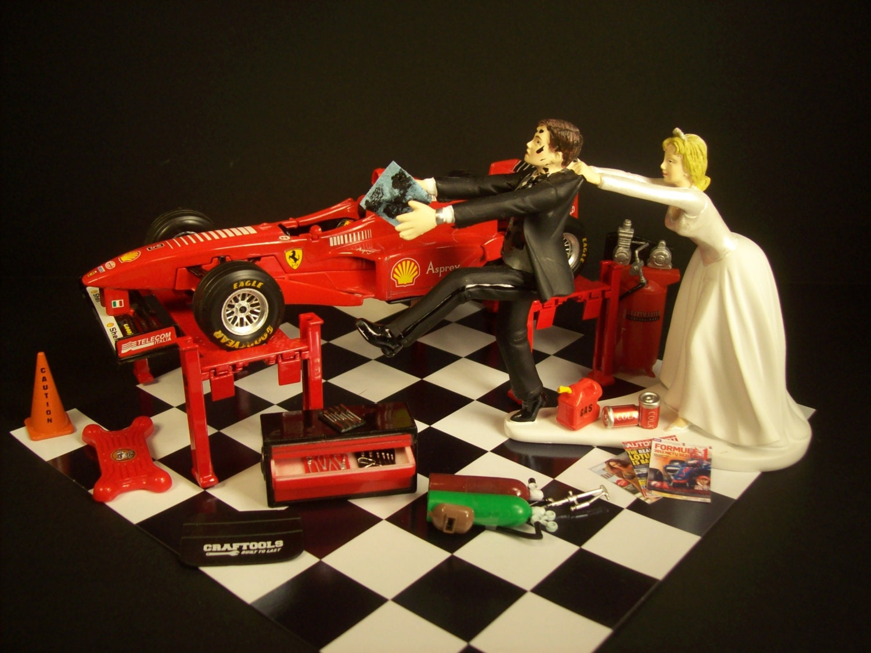 AUTO Mechanic Come Back F1 Red Ferrari Formula 1 Race Car w/
