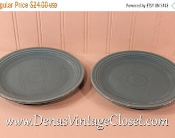 60% Off Memorial Day Sale Vintage Fiesta Ware Turquoise Blue Fiesta Bread Plate Lot of 2 1936-1969