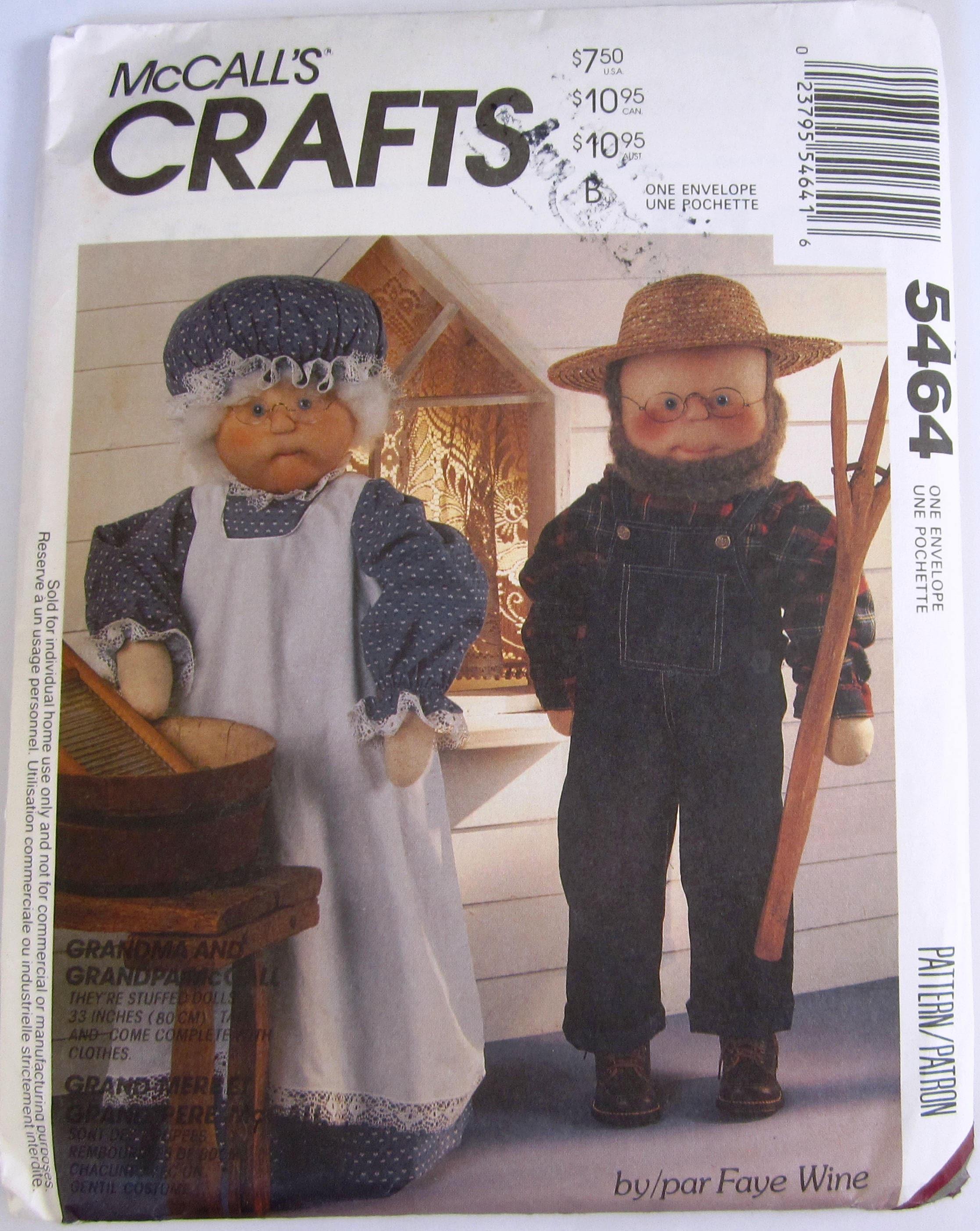 Oma und Opa Puppen und Kleidung McCalls Handwerk Muster