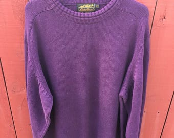 Purple Eddie Bauer cotton sweater