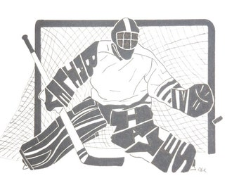 Men's Ice Hockey Goalie Silhouette