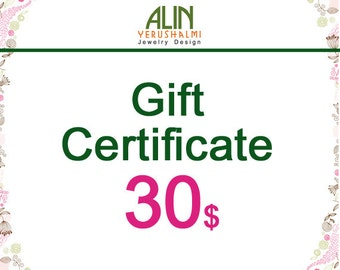 Jewelry Gift Certificate, 30, last minute gift
