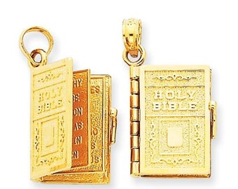 Holy Bible Charm with Move-able Pages (JC071/JC073)