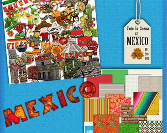 Digital kit MEXICO, travel, mexican,