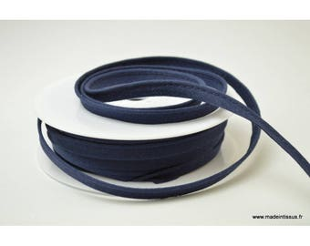 Passepoil 10 mm coton Bleu Marine