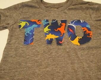 Dinosaur Shirt Boys Birthday Tee Organic Shirt Blend