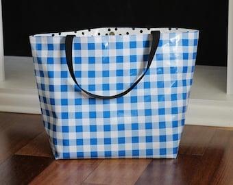 pool bag - waterproof beach bag - pool bag - reversible bag - oilcloth bag - gifts for her - teacher gifts