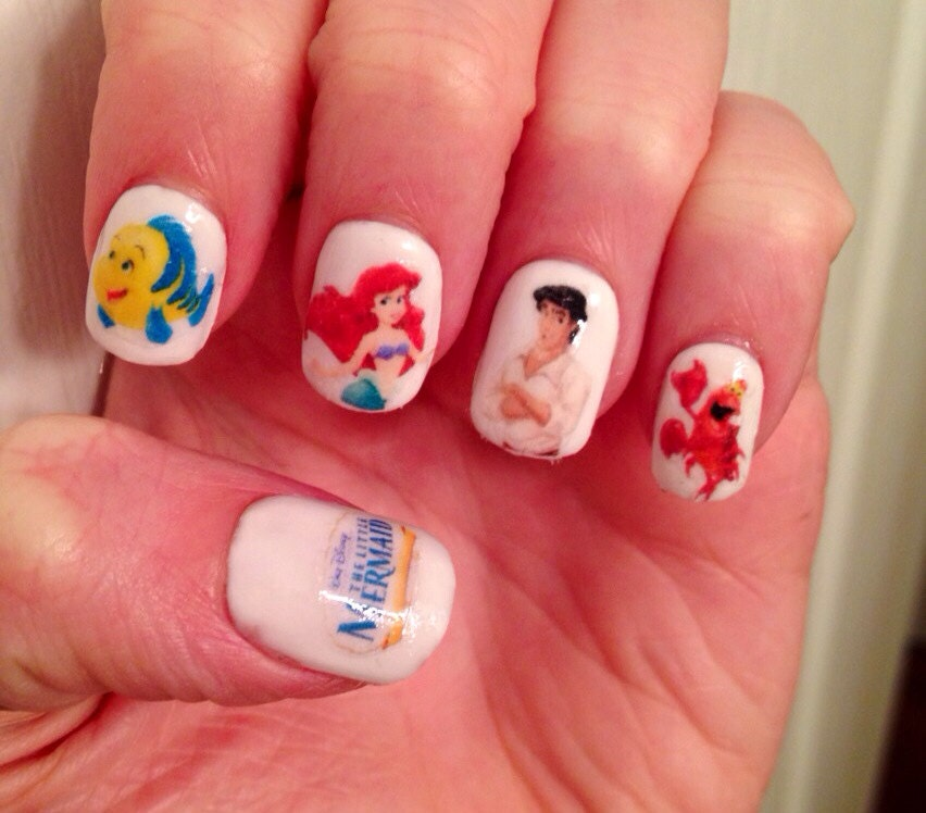 🔎zoom - The Little Mermaid Nail Decals