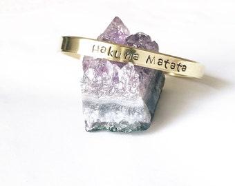 Custom Brass cuff bracelet names dates coordinates