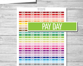 Pay Day Header Stickers, Printable Pay Day Header Stickers, Printable Planner Stickers, Pay Day Planner Stickers, Pay Day Header - PS157